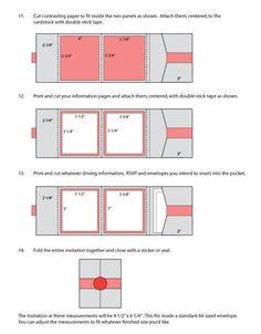 DIY Pocketfold Invitation