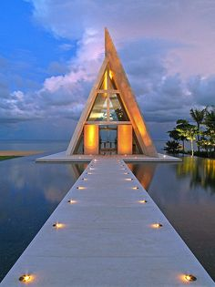 Conrad Hotel, Bali, Indonesia - (Destination: the World) Dining on the water! Places Around The World, Oh The Places You'll Go, Places To Travel, Places To Visit, Travel Destinations, Vacation Places, Wedding Destinations, Vacation Travel, Vacation Spots