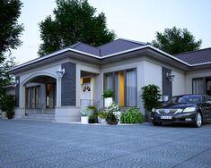 Architectural Design House Plans, Home Design Floor Plans, Modern Bungalow House, Bungalow House Plans, Flat House Design, Modern House Design, My House Plans, Modern House Plans, House Paint Exterior