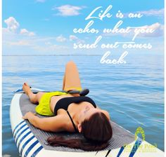 Stand up paddle boarding is an amazing workout but also a fabulous resting place.