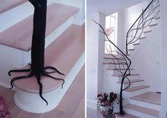 Tree banister. .Beautiful Stairs