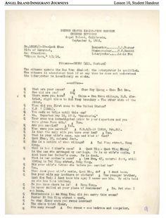 Interview transcript Angel Island