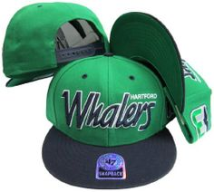 7ae11469e49 Sports   Outdoors - Caps   Hats · Hartford Whalers Script Two Tone Plastic Snapback  Adjustable Plastic Snap Back Hat   Cap by Twins
