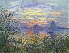 Sunset on the Seine, 1874, Claude Monet