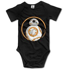 Unisex Baby Short Sleeve The Force Bb8 Star War Awaken Onesies * Continue to the product at the image link.