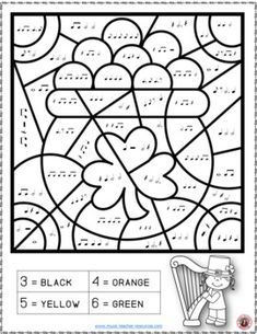 Music lessons | St Patrick's Day Music Activities: 26 St Patrick's Day Music Coloring Pages #musiceducation