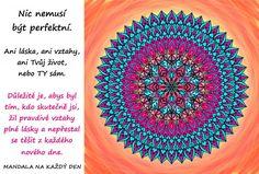 Mandala Neusiluj o dokonalost Motto, Outdoor Blanket, Self, Tapestry, Words, Health, Hanging Tapestry, Tapestries, Needlepoint