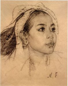 Nicolai Fechin: Young Balinese Woman by deflam, via Flickr