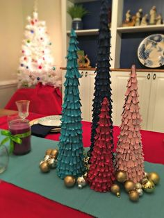 cone Christmas Tree - finished with gold ornaments Pine Cone Christmas Tree, Christmas Love, Christmas Tree Ornaments, Christmas Crafts, Christmas Decorations, Holiday Decor, Christmas Ideas, Painted Pinecones, Pine Cone Crafts