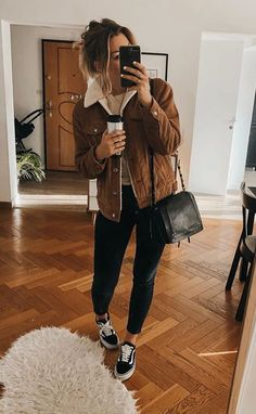 Casual Winter Outfits, Trendy Fall Outfits, Winter Fashion Outfits, Autumn Fashion, Autumn Outfits, Warm Outfits, Comfy Winter Outfit, College Winter Outfits, Fall Outfit Ideas