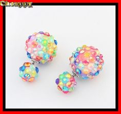 Mooie Double Dots Crystal Multi Color - Cheappy