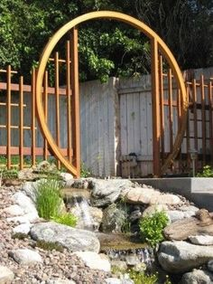 Moon gate Kit, Moongate kits (With images) Amazing Gardens, Beautiful Gardens, Design Azul, Moon Gate, Garden Globes, Japanese Garden Design, Japanese Gardens, Japanese Gate, Asian Garden