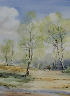 Oliver Pyle Fine Art, watercolour paintings, landscape paintings | spring
