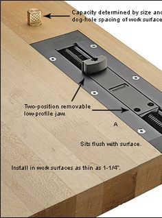 Veritas® Inset Vise - bought one of these in the US a couple of years ago. About time I installed it somewhere