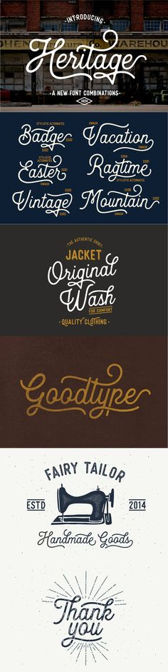 Heritage is a new vintage style script font.  Really digging its curves and flow.  vintage font,#handdrawnfont, #handlettering, #brushlettering #brushscript