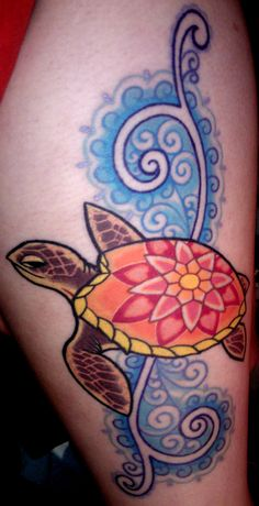 Gilbert, the peaceful sea turtle that lives upon my thigh...