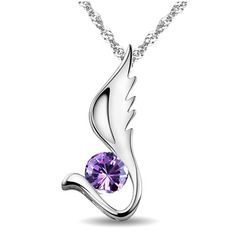 New Fashion Angel Wing Women's Sterling Silver Necklace