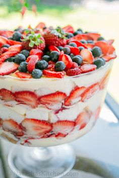 Mixed Berry and Angel Food Trifle Recipe-9