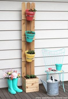 Have A Vertical Planter | Backyard Ideas for Small Yards To DIY This Spring