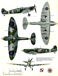 Spitfire Vb, Dark Green and Ocean Gray on top, Medium Sea gray on bottom. Ww2 Aircraft, Fighter Aircraft, Military Aircraft, Fighter Jets, Spitfire Supermarine, Ww2 Spitfire, Image Avion, The Spitfires, Aircraft Painting