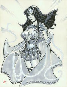 Wonder Woman con sketch by MichaelDooney.deviantart.com on @DeviantArt