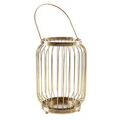 Brass Finish Lantern   Kmart