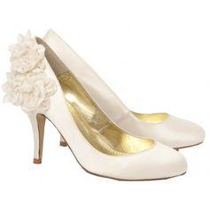 Stunning Wedding Shoe Inspiration from Freya Rose:    Josephine Bridal Shoe with Silk Flower Detail