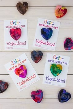 We'll be trying this one out this year! Handmade Valentines: Heart-Shaped Crayons