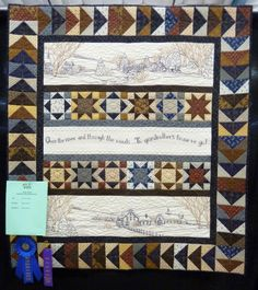 Over the River, made by Mary Waddill and quilted by Karen Denney