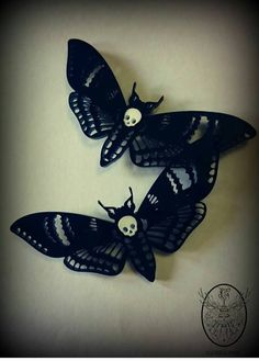 death's head moth hair clips   inspired by Crimson Peak in theaters 10.16.15