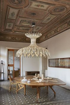 Pendant lamp / contemporary / beech / wooden - DOME 90 by Benedetta Tagliabue - BOVER Barcelona - Videos