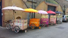 Pick N Mix Tricycles all ready to set off to an event   Pick N Mix   Pashley   Ideas Box   London