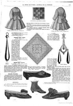 La Mode illustrée: journal de la famille - Google Books Dec 1864 p 413  shoes