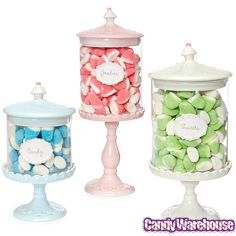 Just Desserts Pedestal Candy Jars: Set of 3