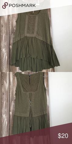 Anthropologie Tank Shirt Great condition green Burton Tank. Size small Anthropologie Tops Tank Tops