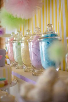 Cotton candy themed baby shower!