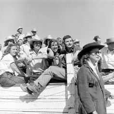 What a crew! All girl rodeo, 1947.