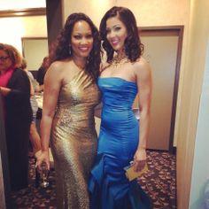 Haitian Beauties Sarodj Bertin & Garcelle Beauvais at MPAH (Motion Picture Association of Haiti) Awards in Boston (2013)