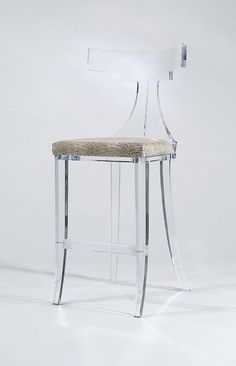 FANTASIA BARSTOOL  by Shahrooz shahrooz-art.com - #AcrylicFurniture, #LuciteFurniture ACRYLICORE by Shahrooz is one of the top-leading designers and manufacturers in Fine Clear Acrylic Furniture and #Sculptures in the country. www.shahrooz-art.com  888-406-4846