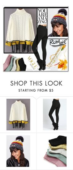"""Romwe"" by crvenamalina ❤ liked on Polyvore"