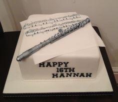 Music/flute cake