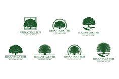 Green Oak Tree Logo vol 1 by denayunebgt on Creative Market