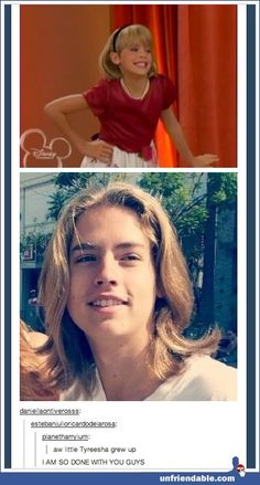 Tyresha grew up! hsahahaha Dylan Sprouse, Sprouse Bros, Cole Sprouse, Disney Pixar, Old Disney, Disney And Dreamworks, Disney Love, Disney Stuff, Tumblr Funny