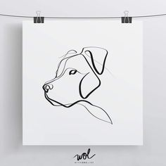 Pit Bull Minimal One Line Dog Drawing - Limited Edition Print by WithOneLine on Etsy https://www.etsy.com/listing/521400975/pit-bull-minimal-one-line-dog-drawing