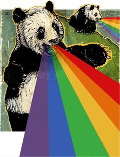 d17cc67efa66 Panda rainbow vomit. Rainbow Vomit