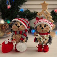 Amigurumi toys Crocheted animals Knitted dolls Handmade by KnittedArttoys Cute Christmas Presents, Christmas Crafts, Christmas Decorations, Christmas Ornaments, Crochet Animal Patterns, Stuffed Animal Patterns, Crochet Animals, Gnome Costume, Children Toys