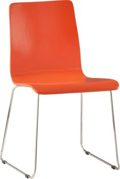 Nice bright pop of color. (echo orange chair in dining chairs, barstools | CB2)