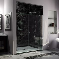 Unique look without the custom price tag Buy Now @ www.amazingshowerdoor.com