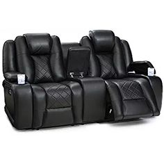 futura leather and vinyl power reclining sofa with headrest in stone italsofa sectional 12 best home theater seating images theatre seatcraft europa recline loveseat adjustable powered headrests center storage console