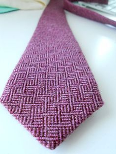 Purple Weaved Patterned Wool Neck Tie by HandsomeAndLace on Etsy, $72.00